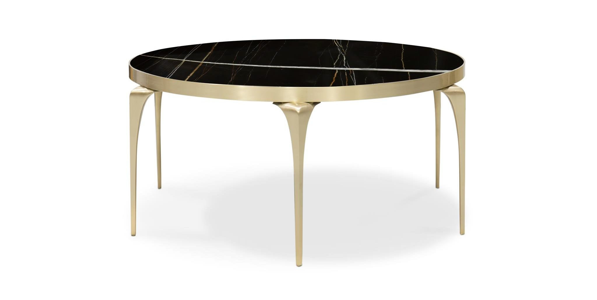 Rita Cocktail Table by KOKET - Salone del Mobile 2018 - luxury cocktail tables - unique coffee tables - marble and brass cocktail tables - round coffee tables - round cocktail tables - metal coffee tables - luxury coffee tables