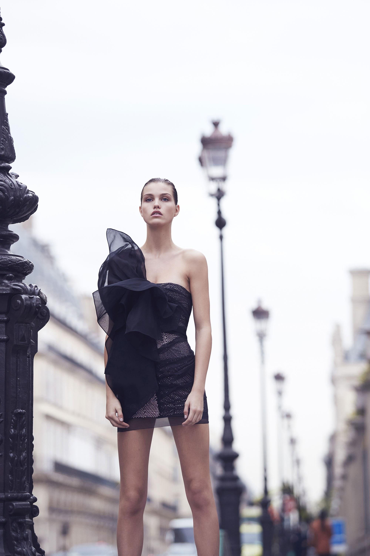 Alexandre Vauthier Spring 2018 - Summer Fashion Trends 2018 - Image via Vogue - sheer dresses - ruffled dresses - dresses with ruffles - sheer trend 2018