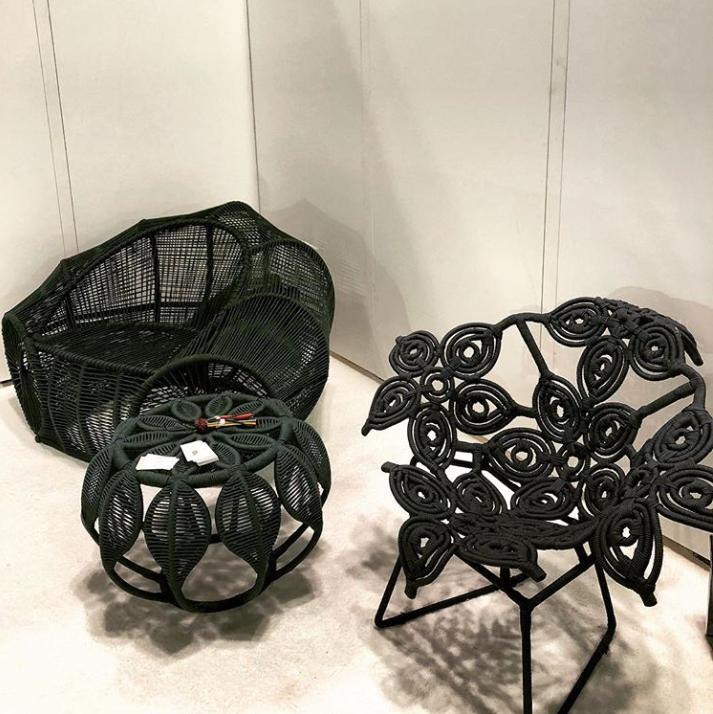 ICFF 2018 - Segio J Matos - Brazilian furniture designer - woven steel furniture