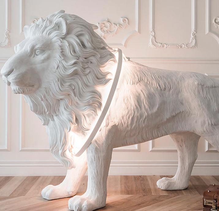 Haoshi Design at ICFF 2018 - unique design - nyc furniture show - lion art - lion sculptures - sculptural lighting - lion statues