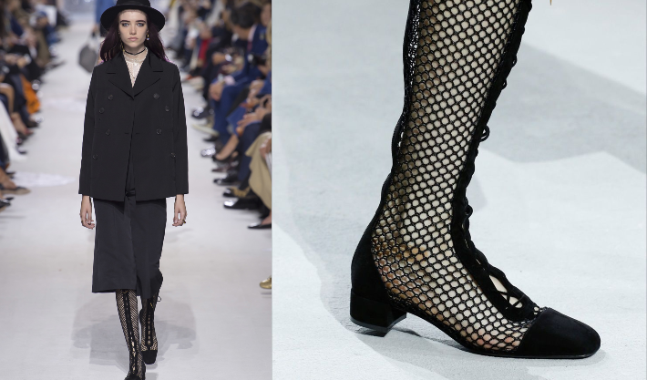 Christian Dior SS18 - Images via Vogue - Summer trends - Fashion trends 2018 - summer boots - shoe trends 2018