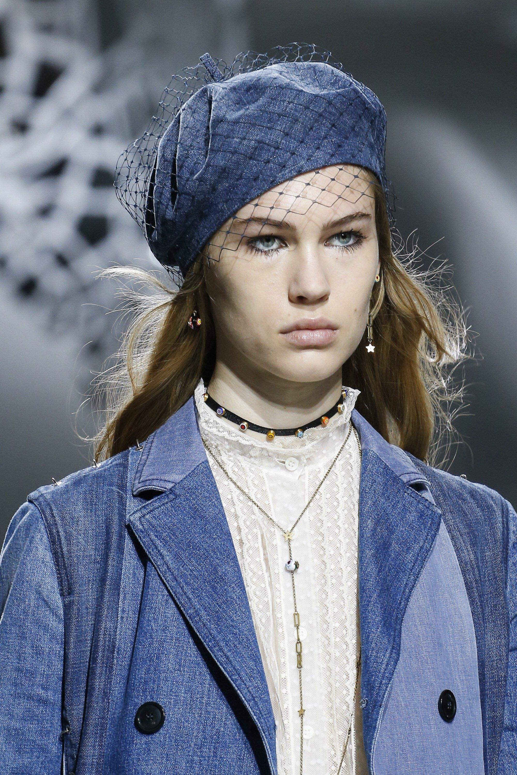 Christian Dior Spring 2018 Beret - Summer Fashion Trends 2018 - Vogue via Marcus Tondo / Indigital - beret fashion trend 2018 - berets spring 2018