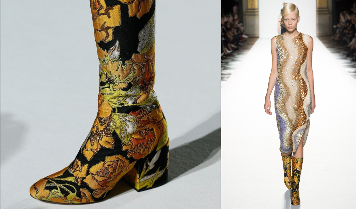 Dries van Noten SS18 - Images via Vogue RU - Summer Fashion Trends 2018 - summer shoes - shoe trends 2018
