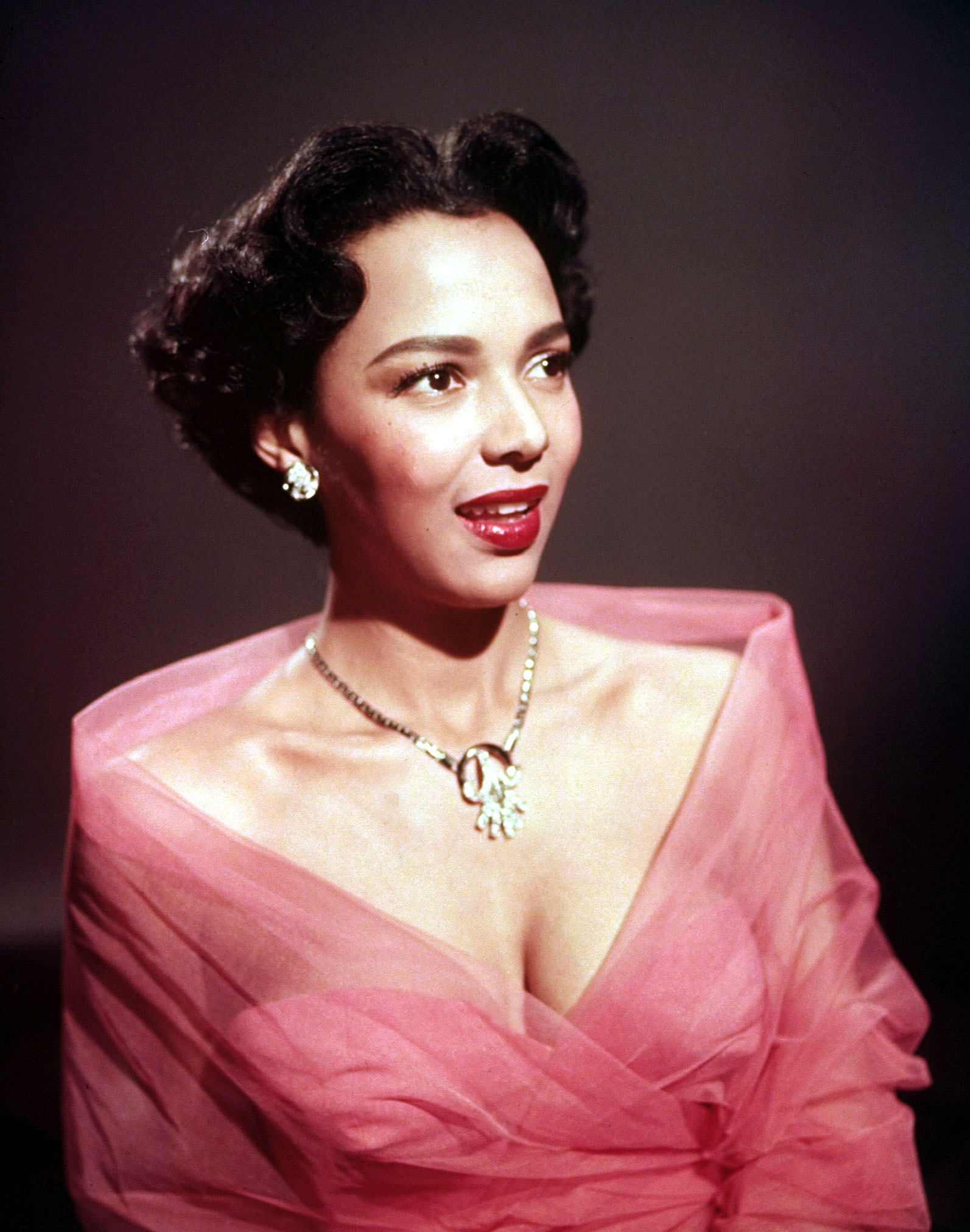 Oldies But Goodies - Top Makeup Looks From 20th Century Hollywood Glamour - Edward Clark, Portrait of Dorothy Dandridge in Tarzan's Peril directed by Phil Brandon , 1951. Image via TheRedList.com - beauty tips - makeup ideas