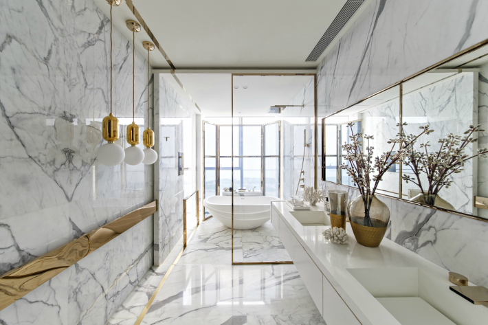 natural stone bathrooms, luxury bathrooms, bathroom design, Shenzhen Paris, Kelly Hoppen, Kelly Hoppen Shenzhen Paris