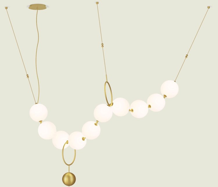 Coco by Larose Guyon at ICFF 2018 - unique lighting - luxury lighting - coco chanel - best of icff 2018 - jewelry lighting