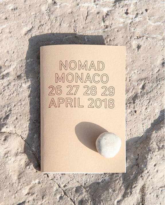 Nomad Monaco 2018 Catalog - Visual Identity and Photo by @studiovedet - art shows - art exhibitions - design shows - collectible design - contemporary art shows