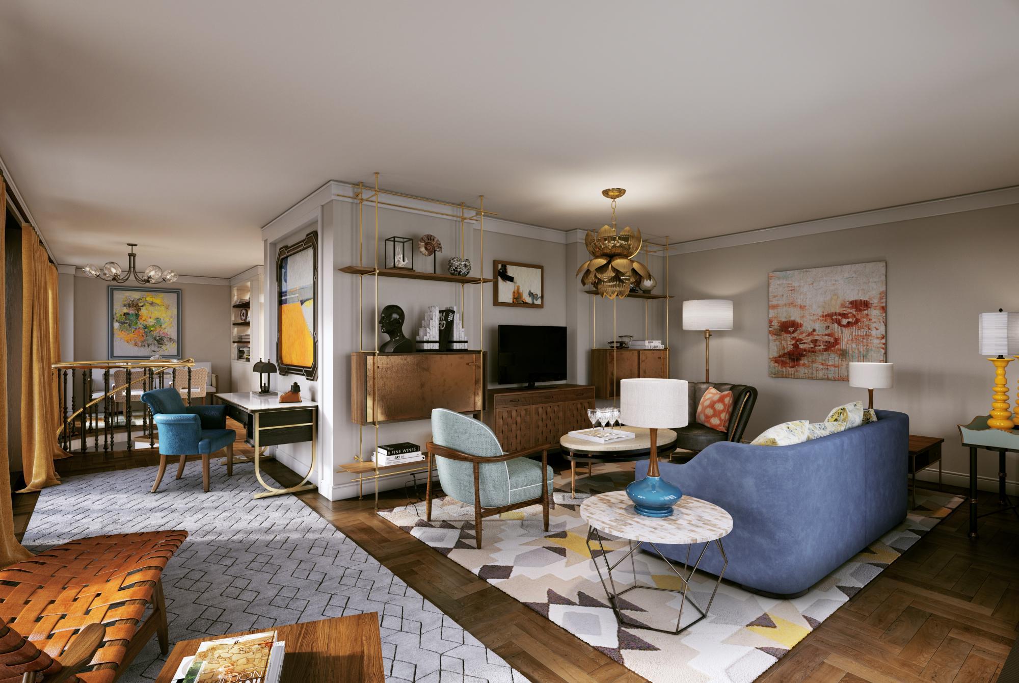 81 Dean Street Residence by Martin Brudnizki - Martin Brudnizki Design Studio - top interior designers - best interior designers in new york - top interior designers in nyc - top interior designers in london