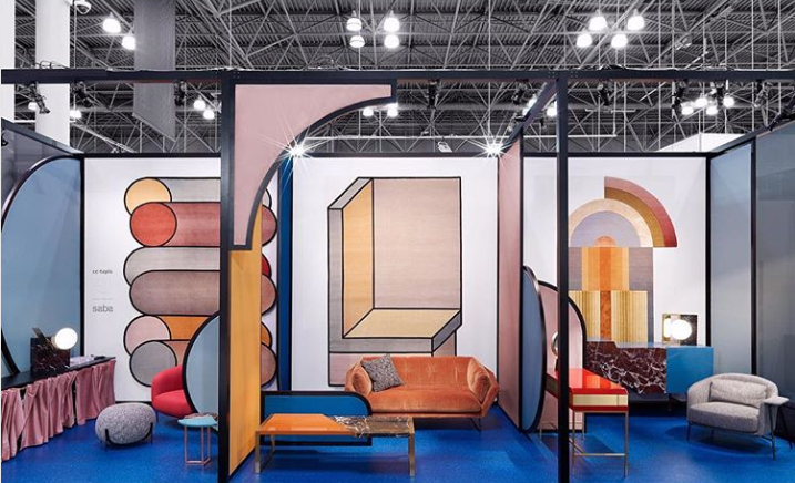 cc tapis at ICFF 2018 - NYC Furniture Show - Unique Design - 2018 interior design trends - geometric rugs - hand-knotted rugs - italian rug companies