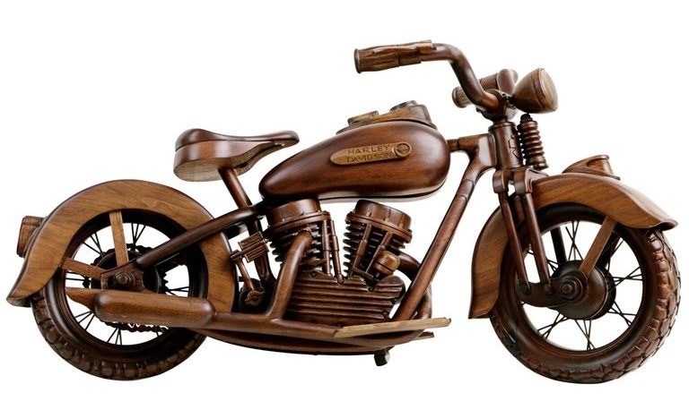 Father's Day Gifts - Gifts for Men - Gifts for Him - Gifts for Dads - 1stDibs 1948 EL Panhead Harley Davidson Wood Model - motorcycle models - vintage motorcycle models - motorcycle statues - harley davidson models