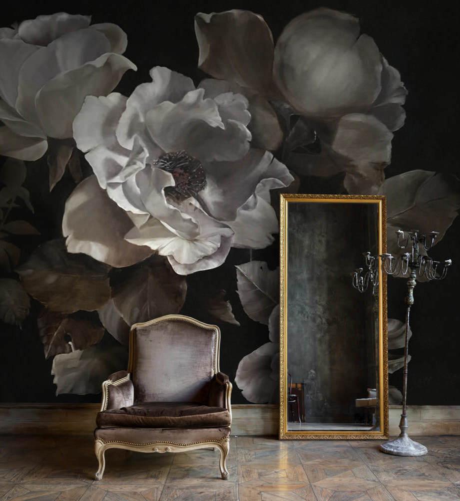 florals, floral wall art, floral wallpaper, interior design tips, floral interiors, interior design inspiration