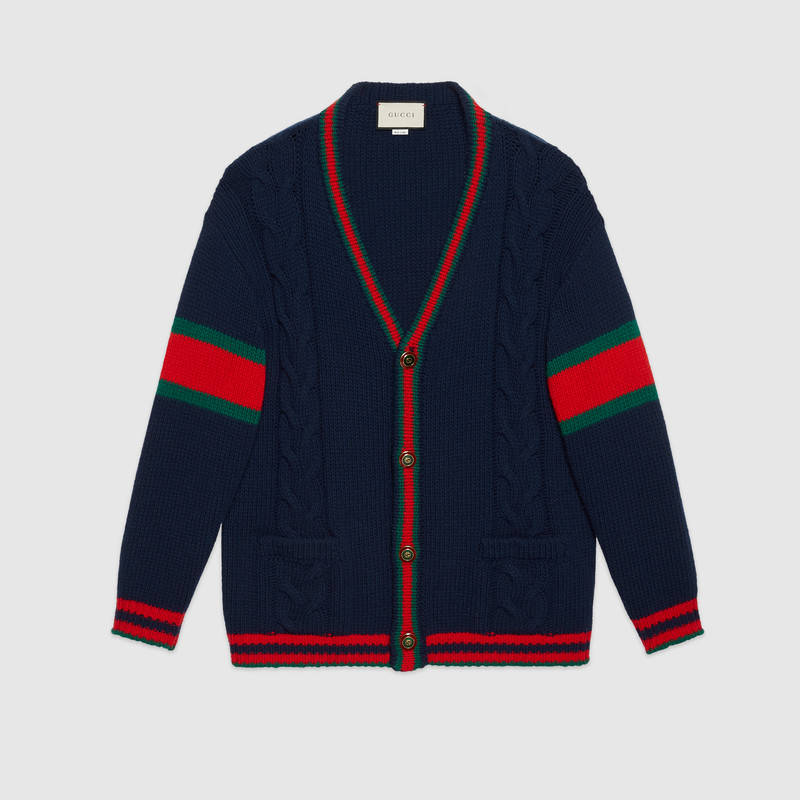 Father's Day Gifts - Gifts for Men - Gifts for Him - Gifts for Dads - Gucci Cardigan Light Cable Knit - Gucci mens sweaters - Gucci mens clothing
