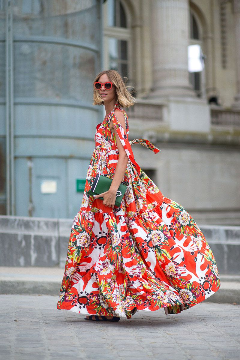 floral trend, floral prints, floral design, floral fashion, high fashion with florals, high fashion floral prints, floral street style, Paris Couture Week Street Style
