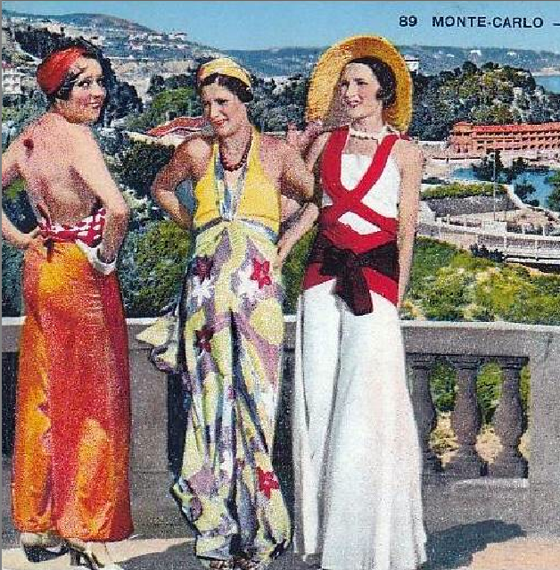 1930s Beach Pajamas - How to Style a Jumpsuit - chanel beach pajamas