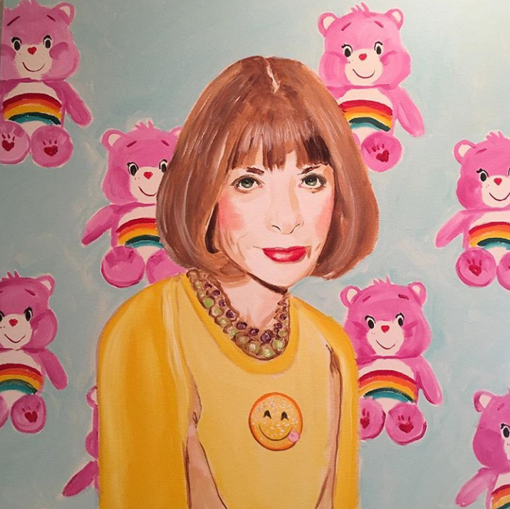Ashley Longshore Care Bare Stare - Anna Wintour - Care Bears - via @ashleylongshoreart - pop art - female pop artists - women empowerment - empowering female artists - empowering art