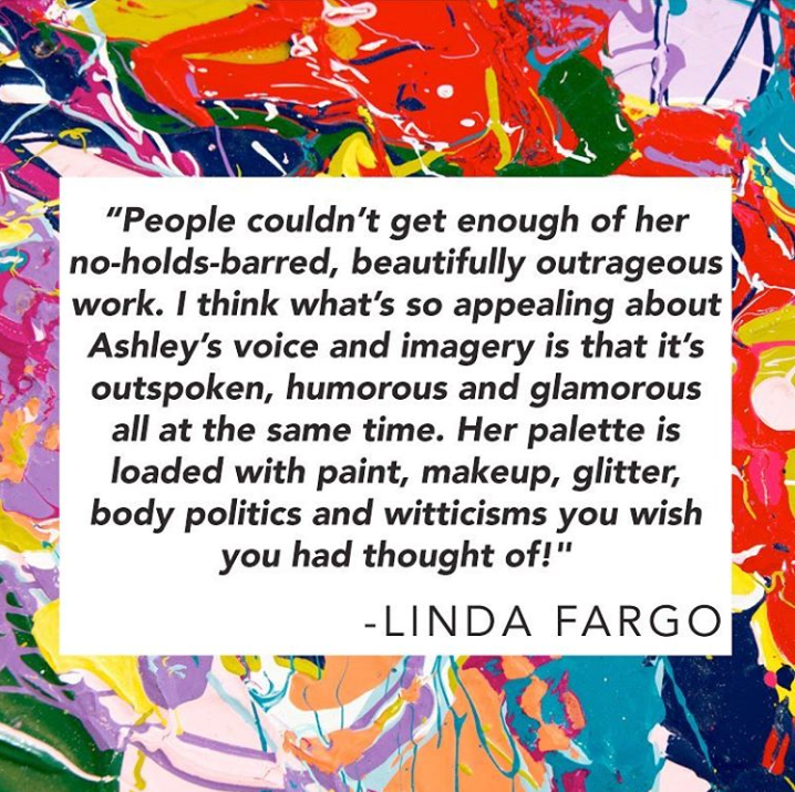 Ashley Longshore via @ashleylongshoreart - Quote by Linda Fargo - ashley longshore and bergdorf goodman - pop artists - empowering female artists - female pop artists - women empowerment
