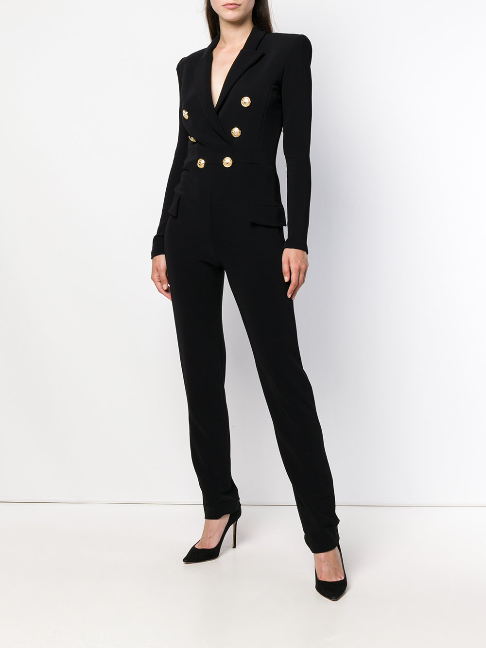 Balmain Double Breasted Jumpsuit - How to Style a Jumpsuit - how to style a romper - how to wear a jumpsuit - the perfect jumpsuit - business jumpsuits