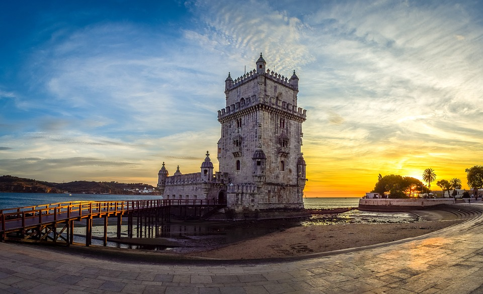 Belem Tower Lisbon Portugal - Torre de Belém - Design Lovers Guide to Portugal - Things to Do In Portugal for Architecture, Art & Design Lovers - belem tower - most beautiful places in portugal - most beautiful places in lisbon - beautiful buildings in lisbon