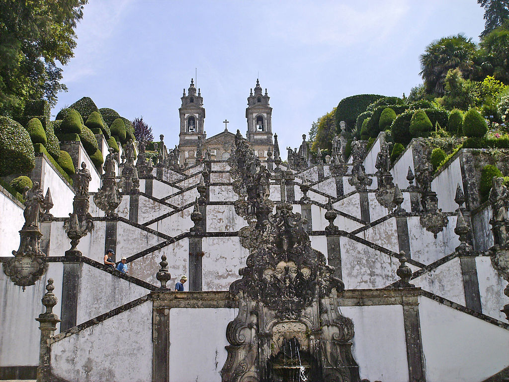 Bom Jesus do Monte Braga Portugal - Design Lovers Guide to Portugal - Things to Do In Portugal for Architecture, Art & Design Lovers - most beautiful places in portugal - top tourist spots portugal - beautiful architecture portugal - beautiful buildings portugal