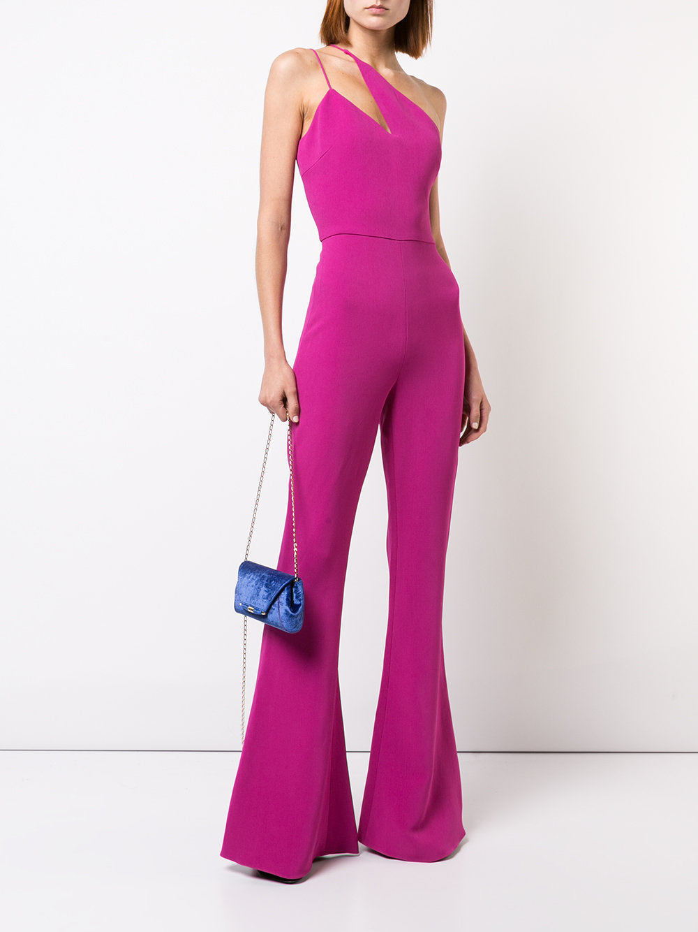 0bf38f2ca24 Cushnie et Ochs One-Shoulder Flared Jumpsuit - How to Style a Jumpsuit -  Source