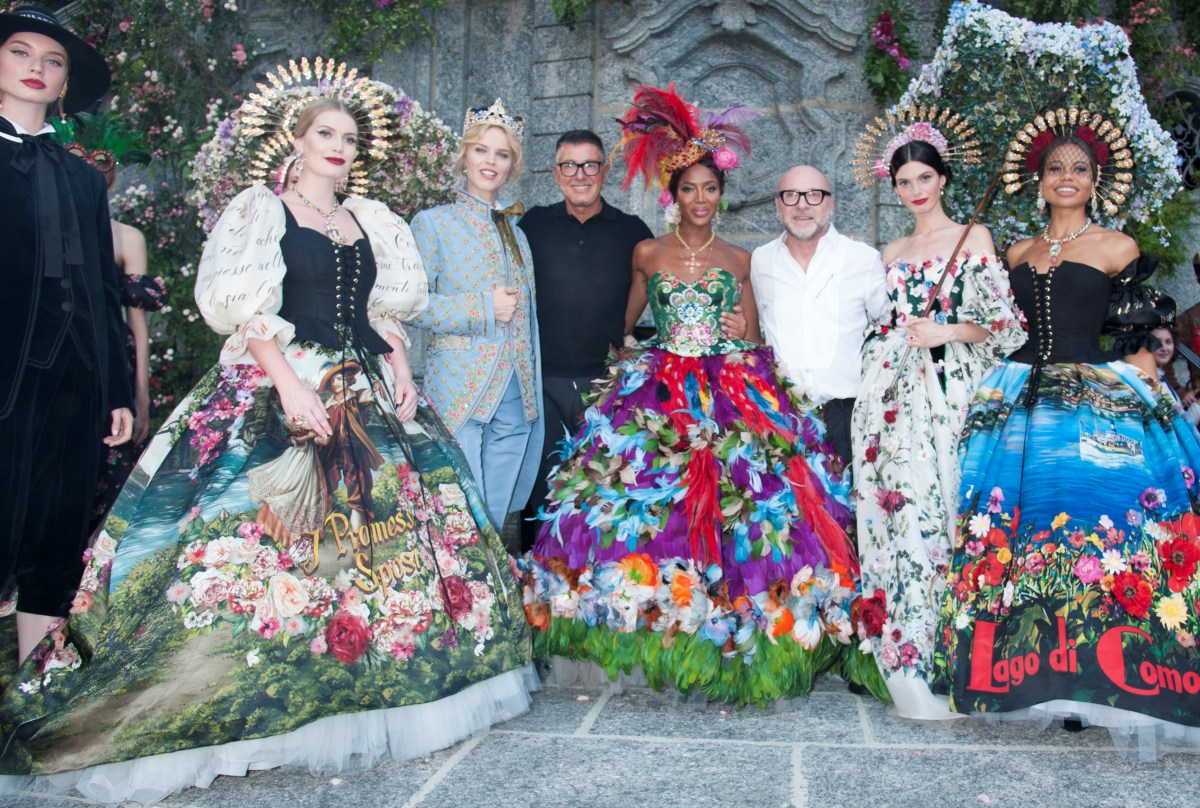 Dolce and Gabbana Alta Moda - The designers Domenico Dolce and Stefano Gabbana. via MilanoFinanza.it - naomi cambell dolce and gabbana alta moda - kitty spencer dolce and gabbana alta moda - dolce & gabbana haute couture - dolce & gabbana alta moda collection