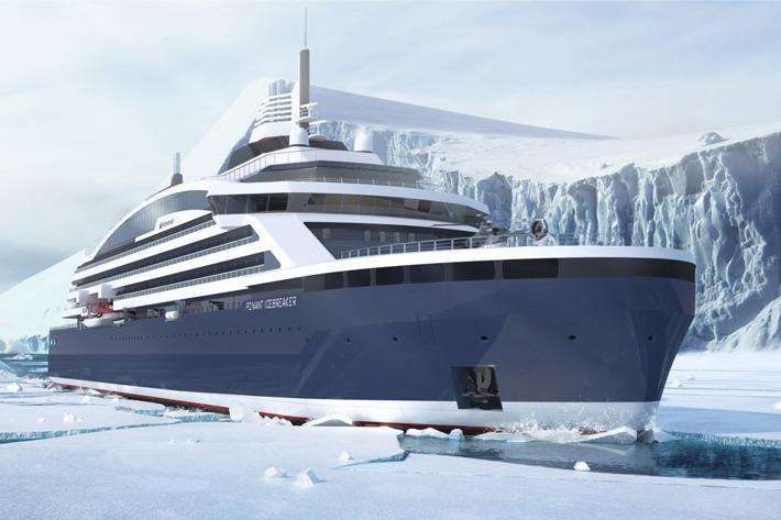 Edie Rodriguez - Bow-View_ICEBREAKER-c-PONANT-STIRLING-DESIGN-INTERNATIONAL - ponant cruises - expedition travel - luxury cruises - north pole cruises - worlds first luxury icebreaker cruise ship