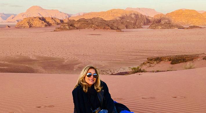 Edie Rodriguez travels to the Wadi Rum Desert of Jordan