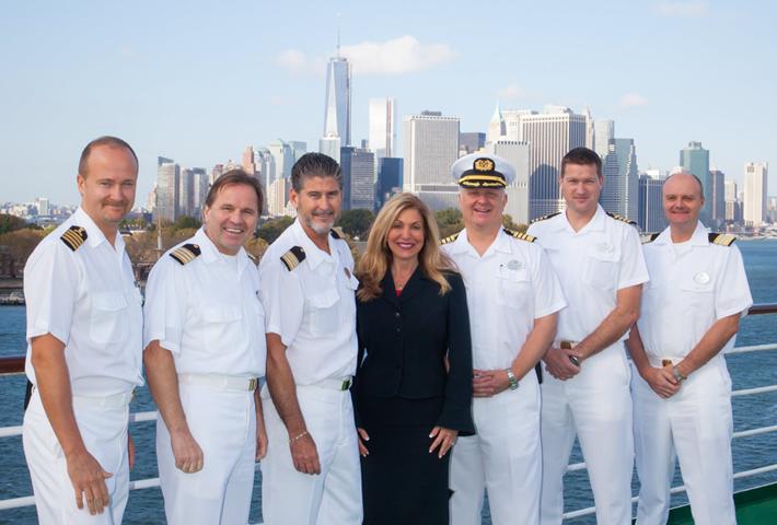Edie Rodriguez with Senior Officers NYC