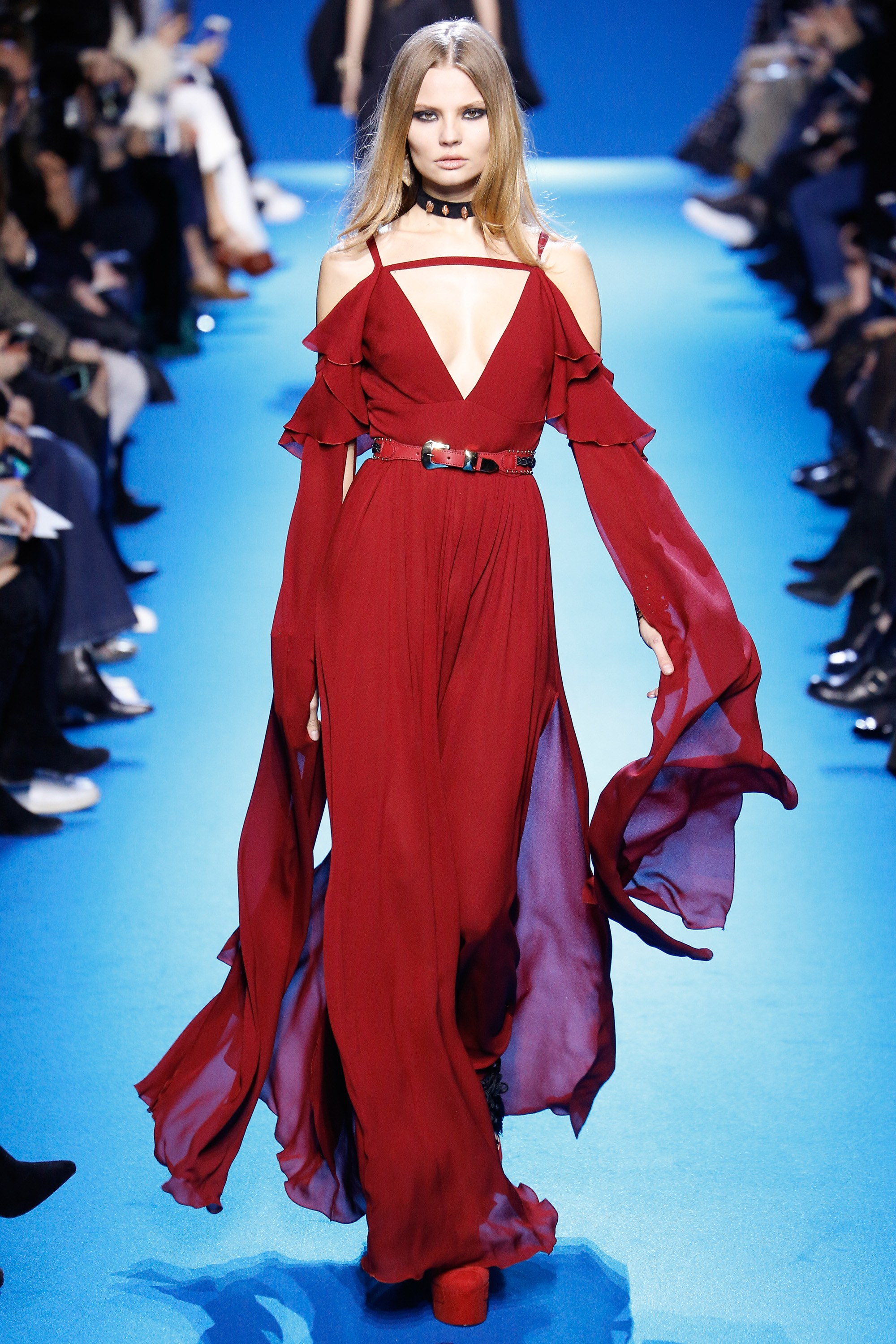Elie Saab - How to Style a Jumpsuit - Model-Magdalena Frackowiak - Source Photo by Luca Tombolini, Indigital.tv via Vogue.