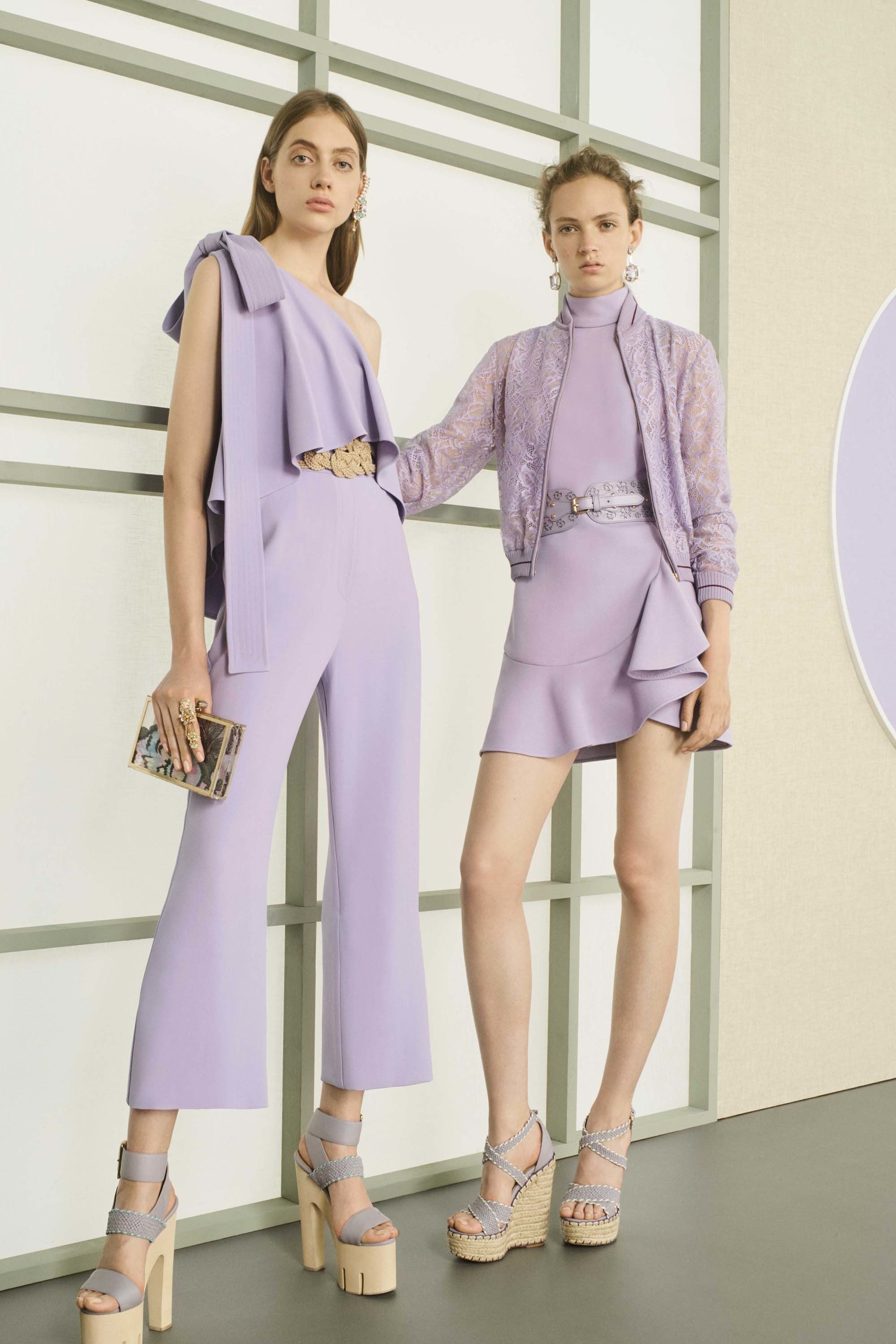 Elie Saab Resort 2017 - How to Style a Jumpsuit - Accessorizing a Jumpsuit - Source Elie Saab - lavender jumpsuits - capri jumpsuits - designer jumpsuits