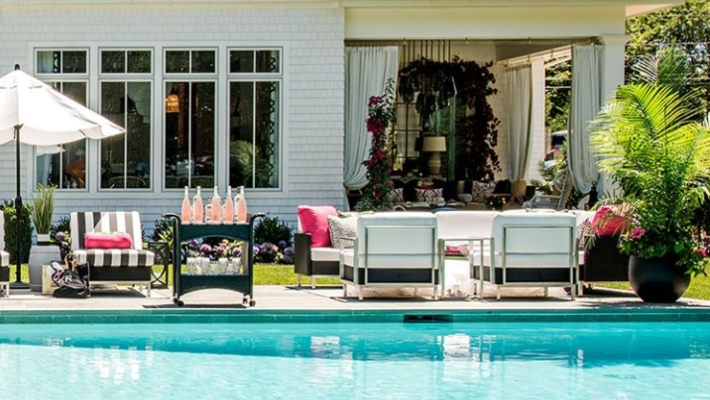 Top Interior Designers - Hamptons Designer Showhouse 2018 - designer showhouses - poolside design - pool patio design - home exterior ideas