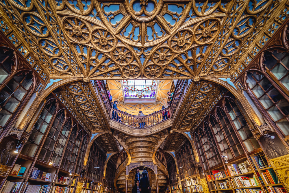 Livraria Lello Bookstore - Design Lovers Guide to Portugal: Things to Do In Portugal for Architecture, Art & Design Lovers - best shopping in portugal - best design stores in portugal - best furniture stores in portugal - best bookstores in portugal