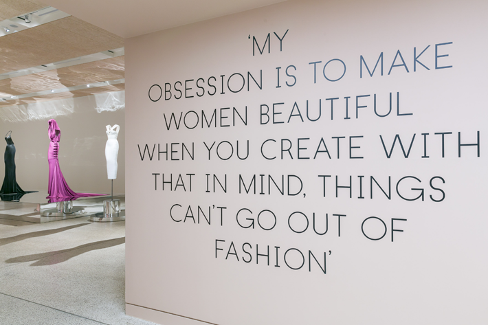 Azzedine Alaïa Exhibition London Design Musuem - Photo by Mark Blower - my obsession is to make women beautiful. when you create with that in mind, things can't go out of fashion - quotes by azzedine alaia