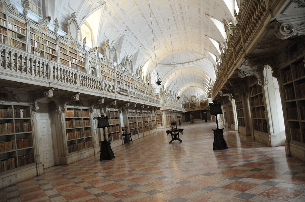 Mosteiro Palacio Nacional De Mafra - Library of the Convent of Mafra - Design Lovers Guide to Portugal - Things to Do In Portugal for Architecture, Art & Design Lovers - most beautiful places in portugal - beautiful architecture portugal - most beautiful buildings portugal