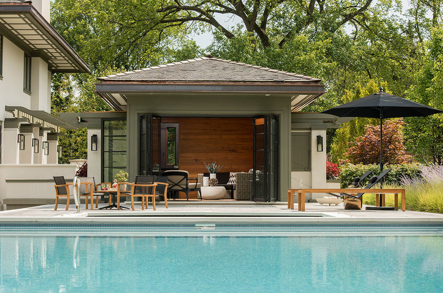 Exceptional Pool House By Donna Mondi Interior Design. Source: Photo By Nick Novelli  Via Maison Global.