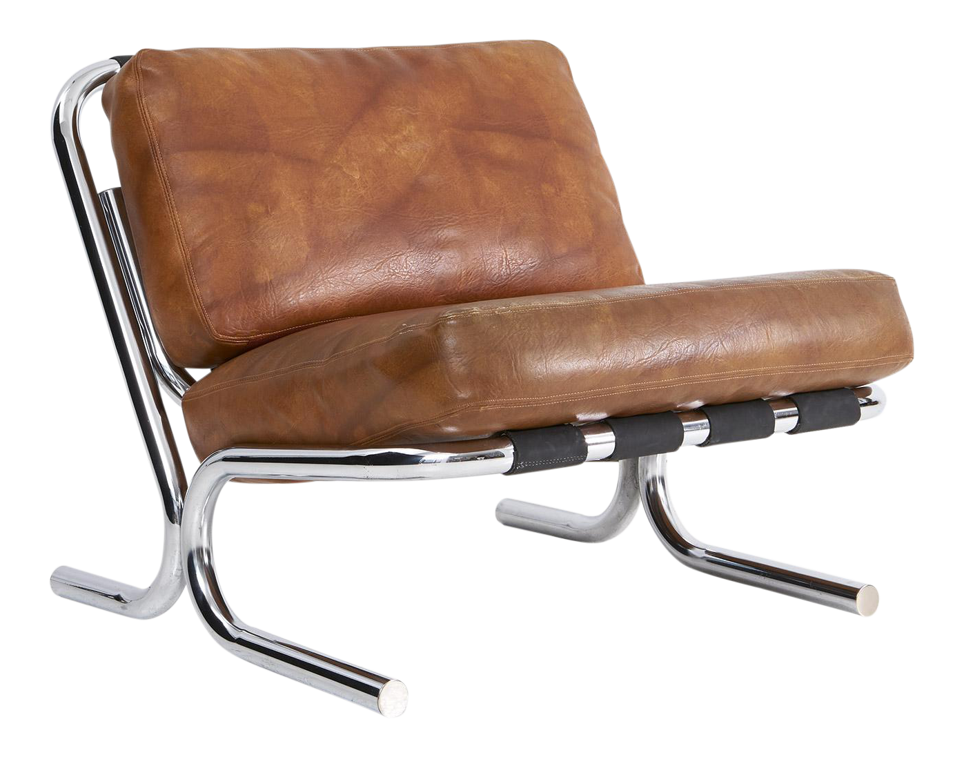 milo baughman lounge chair from decaso vintage furniture - vintage chairs - vintage furniture - antiques - antique furniture - leather sling chairs
