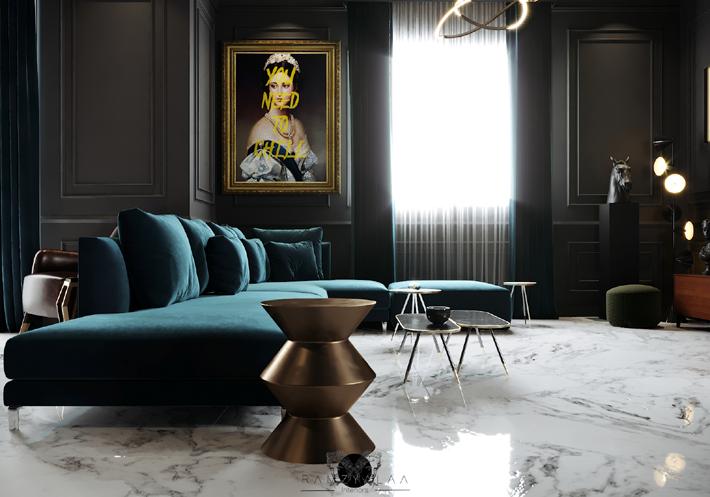 Interior Design Inspiration A Luxuriously Dark Artful Home By Ramzy Alaa