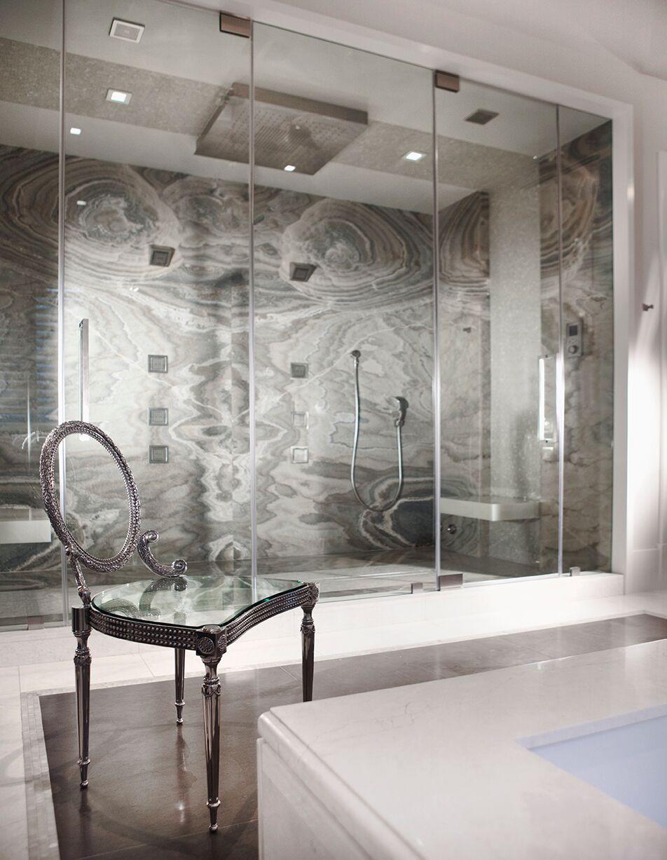 Top Miami Interior Designers - B Pila Design - Artistic Villa - Bathrooms - marble bathrooms - bathroom design ideas