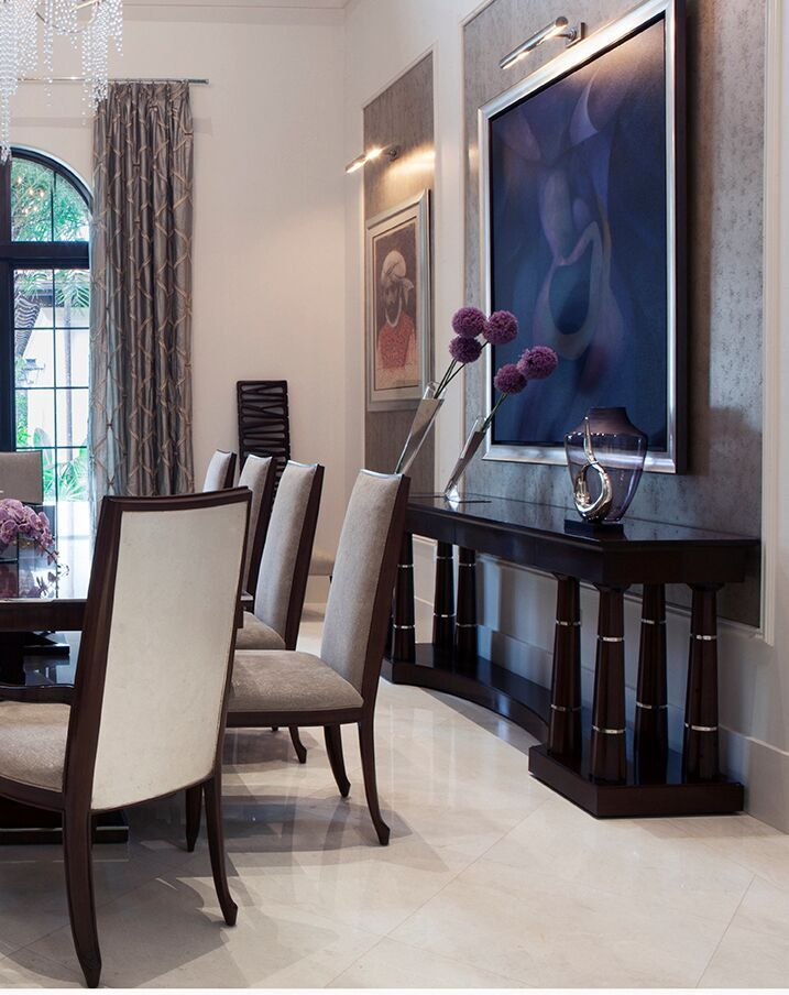 Top Miami Interior Designers - B Pila Design - Artistic Villa - Dining Room - dining room design ideas - dining room tables - luxury dining furniture - luxury furniture - luxury dining chairs