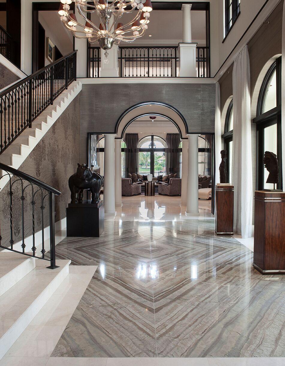 Top Miami Interior Designers - B Pila Design - Artistic Villa - Foyer interior design ideas - foyer design ideas - entry design ideas - marble foyers - villa foyers - bea pila