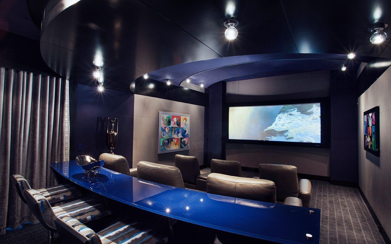 Top Miami Interior Designers - B Pila Design - Artistic Villa - Home Theaters - home theater design ideas - luxury upholstery