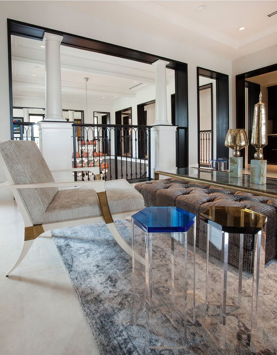 Top Miami Interior Designers - B Pila Design - Artistic Villa - Sitting Rooms - sitting room design ideas - unique accent chairs - unique side tables - luxury furniture