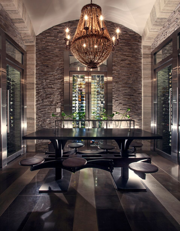Top Miami Interior Designers - B Pila Design - Artistic Villa - Wine Cellar - wine rooms - luxury furniture - wine cellar design ideas - wine cellars - wine cellar lighting
