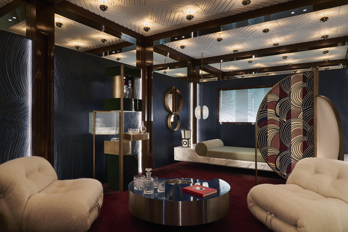 AD Interieurs 2018 - The Nocturnal Smoking Room by Humbert & Poyet - Photo by Claire Israël via AD France - Paris Design Week 2018 - architectural digest france - compagnie de phalsbourg - hotel de la bucherie - office design ideas - luxury office designs - glamorous offices
