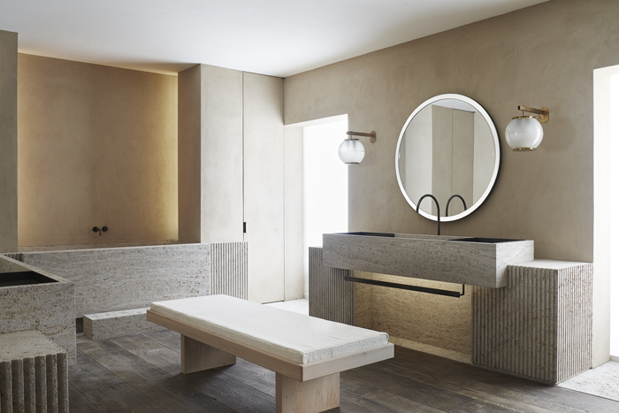 AD Interieurs 2018 - The Bathing Lounge by Nicolas Schuybroek - Photo by Claire Israël via AD France - Paris Design Week 2018 - architectural digest france - compagnie de phalsbourg - hotel de la bucherie - top interior designers - bathroom designs - bathroom design ideas