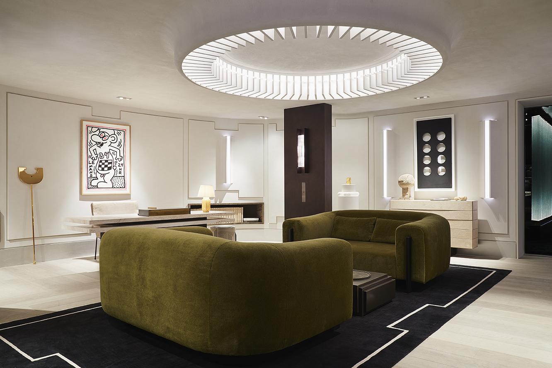 AD Interieurs 2018 - The The Resting Office by Stéphane Parmentier - Photo by Claire Israël via AD France - Paris Design Week 2018 - architectural digest france - compagnie de phalsbourg - hotel de la bucherie - top interior designers