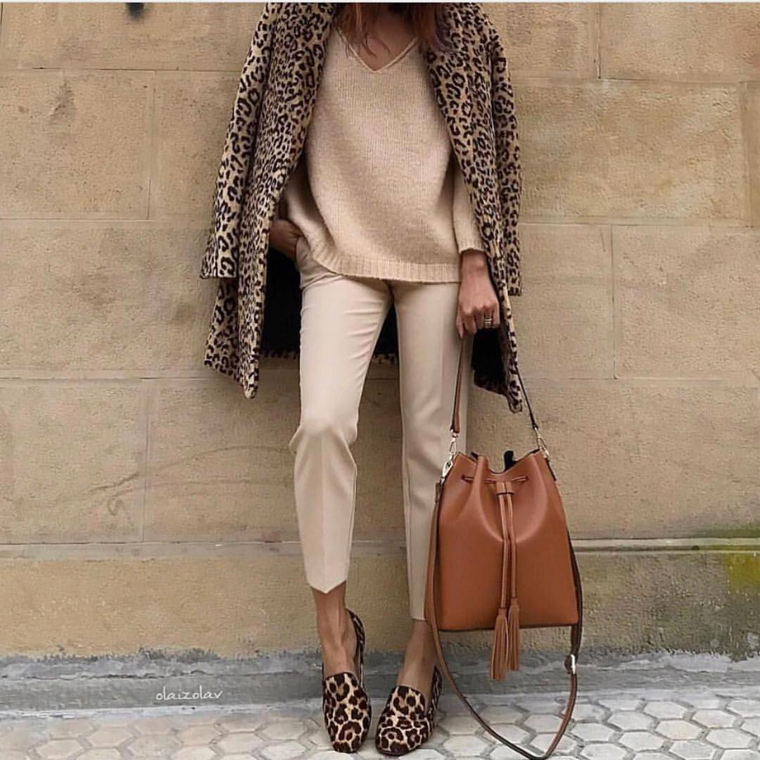 @olaizolav - From Comfy Tops to Red Dresses - How To Love Yourself No Matter What You Wear - leopard coat - leopard shoes - fashion influencers instagram