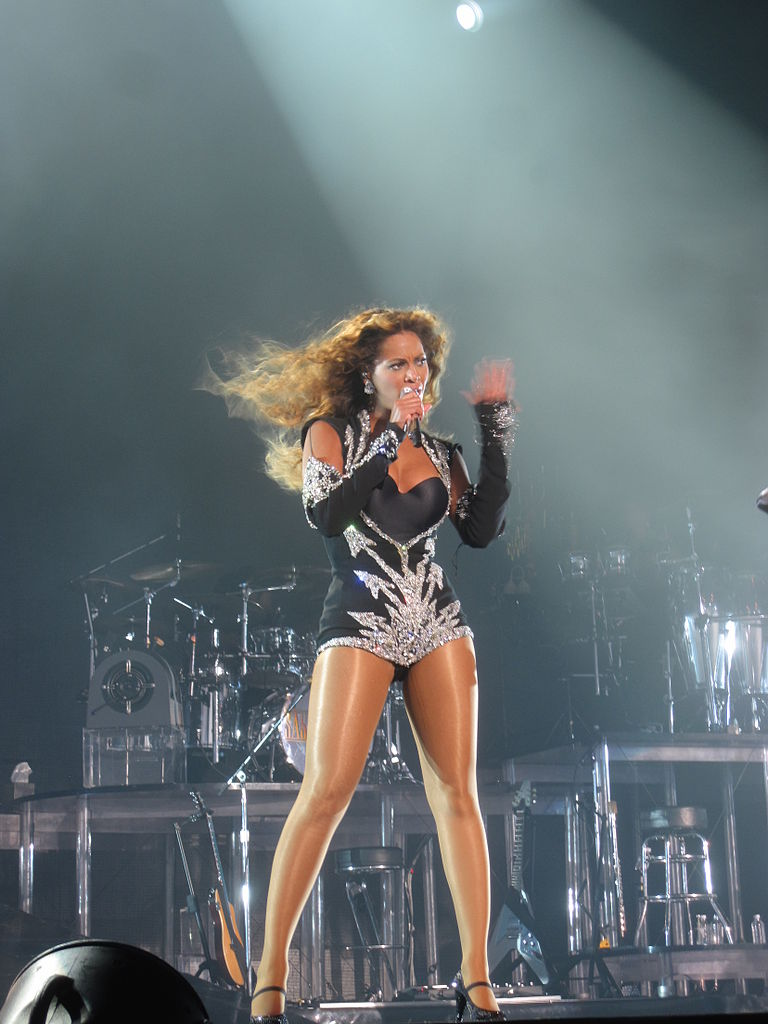 Beyonce performing Single Ladies [Put a Ring on It] on The O2 Arena stage in London - Photo by Idrewuk via Wikimedia Commons - beyonce knowles - women empowering women - girl power - modern feminists - feminist songs