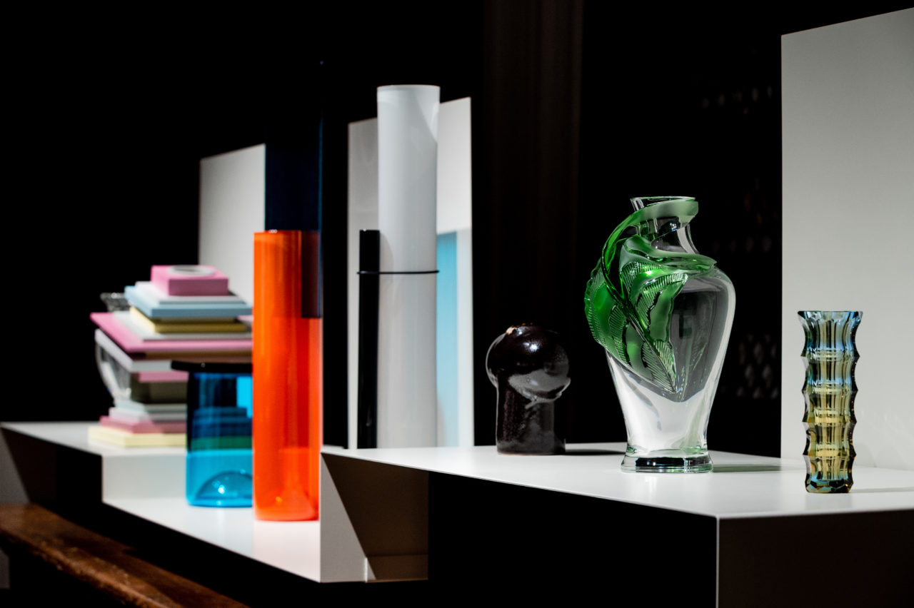 "Handmade - Homo Faber 2018 - View of some of the vases exhibited in the ""centuries of shape"" exhibition - iconic vases - triennale design musuem - european craftsmanship"