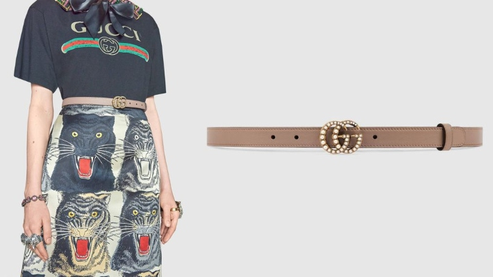 must have accessories - fashion tips - Gucci Leather belt with pearl Double G buckle - essential accessories - must have accessories - belts - styling tips - gucci belts